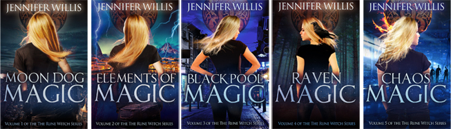 The Rune Witch urban fantasy series from Jennifer Willis.