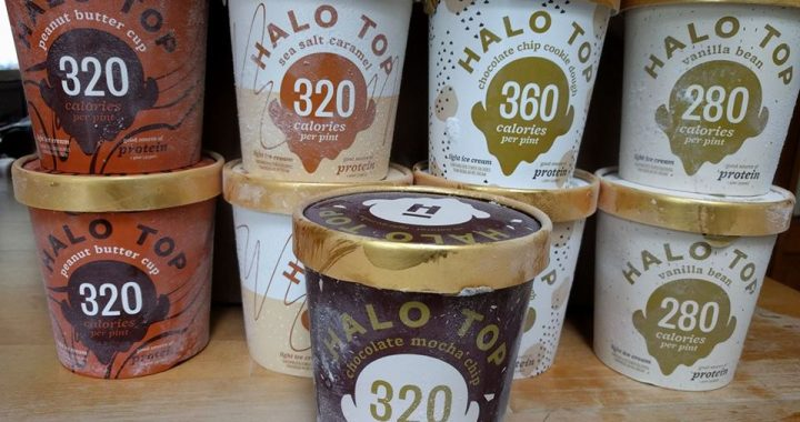 Halo Top assortment of flavors. Photo by Jennifer Willis.