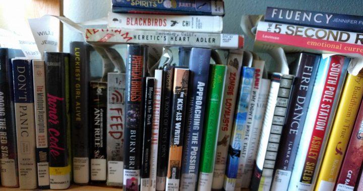 Library books, July 2018. Photo by Jennifer Willis.