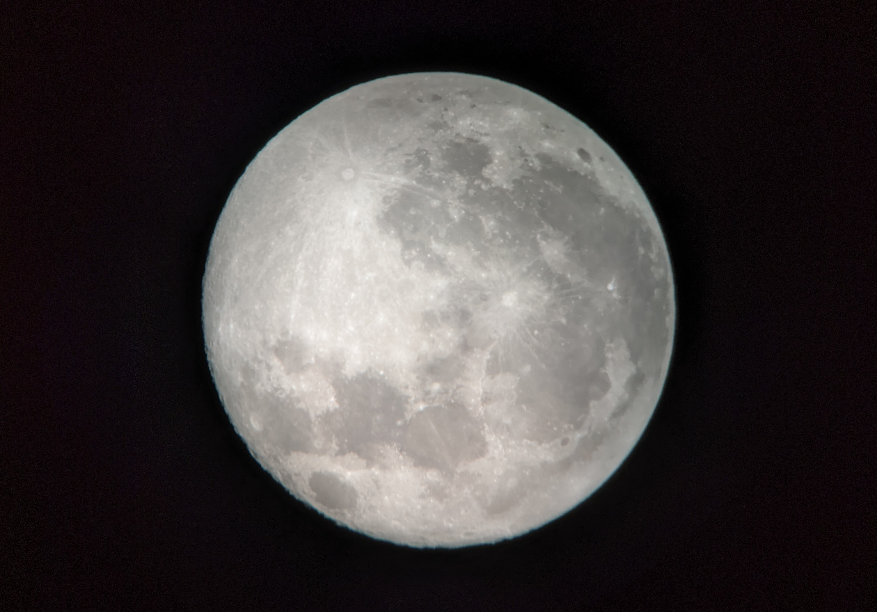 Moon, just past full.