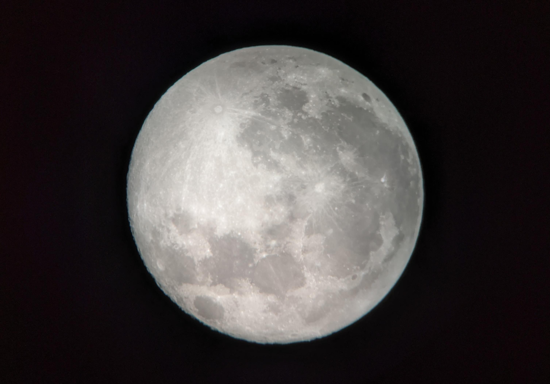 Moon, just past full.